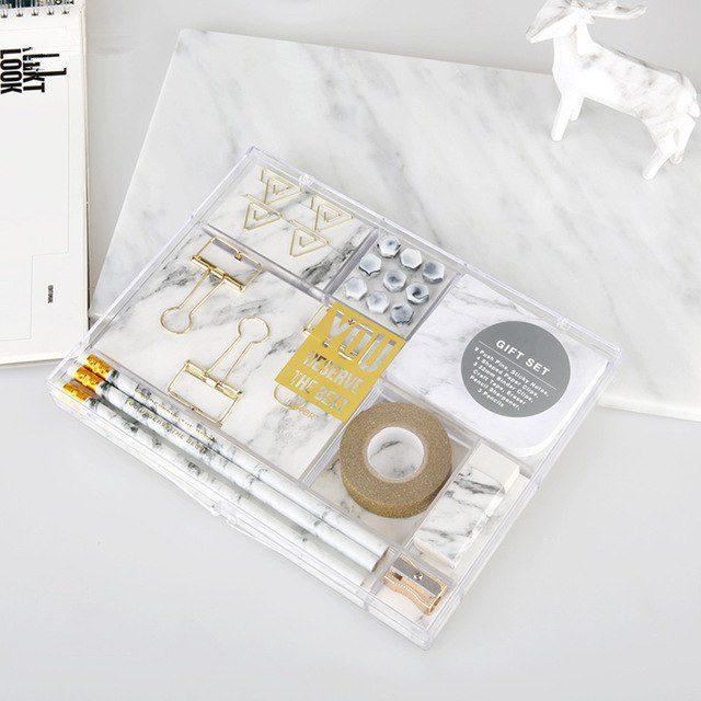 Oliver Spence Creative White Marble Stationery Kit