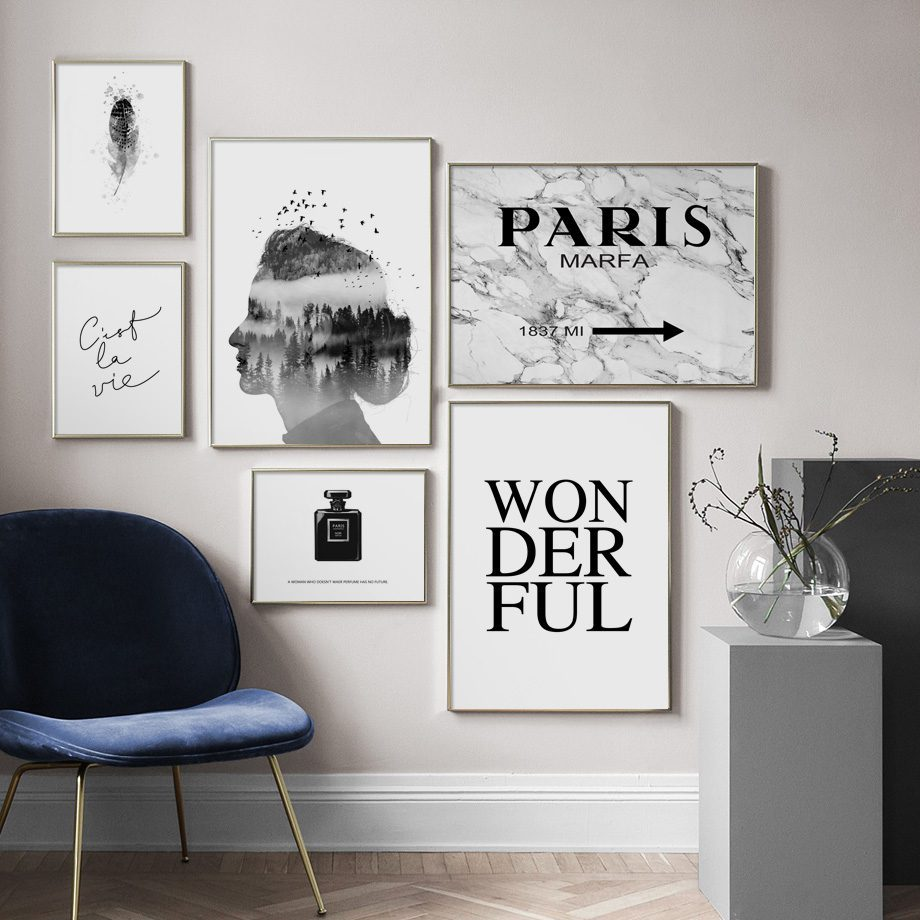 Oliver Spence Wall Art Paris Black and White 2