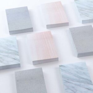 3 Sets of Marble Oversized Sticky Notes