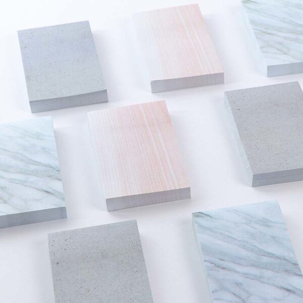 3 Sets of Marble Oversized Sticky Notes