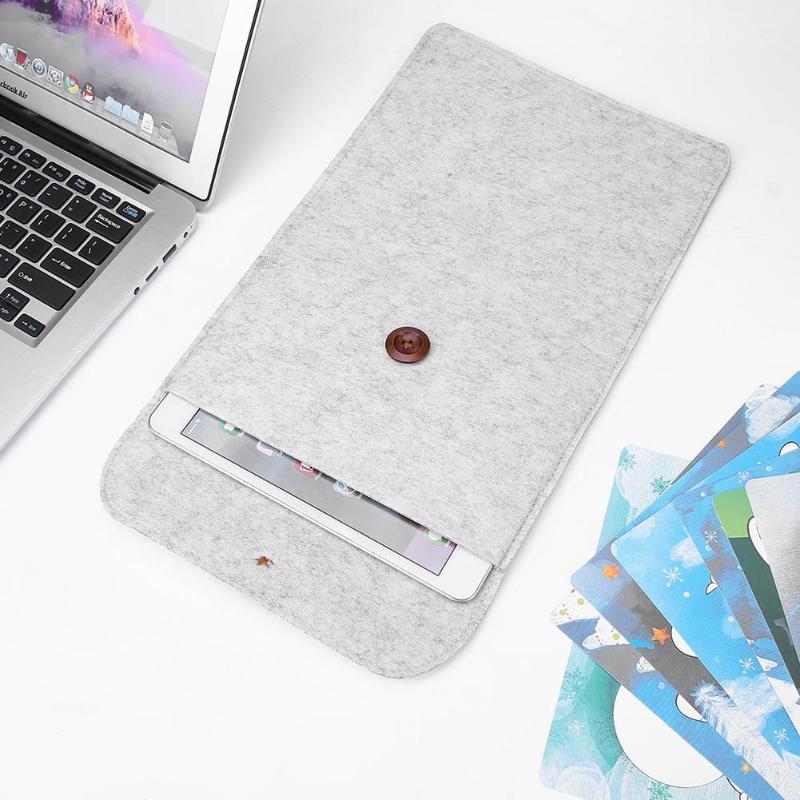 Felt 11in Laptop Notebook Ipad Sleeve Grey 5