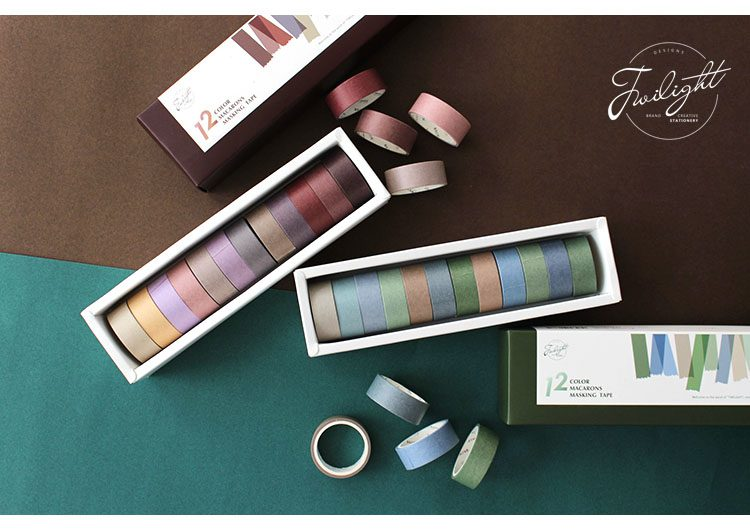 Oliver Spence Bullet Journal Washi Tape – Set 12 Colors 11