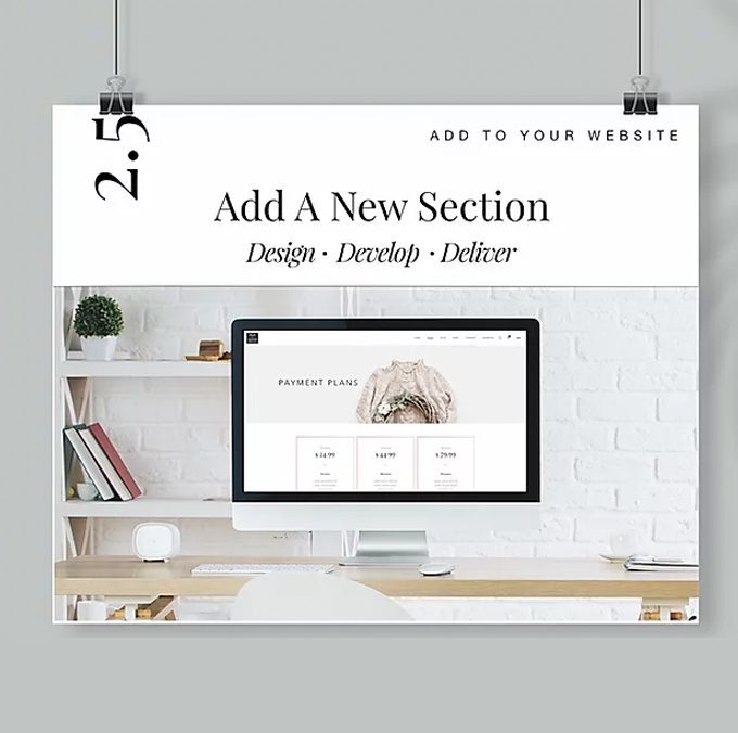 Add a new section to a webpage